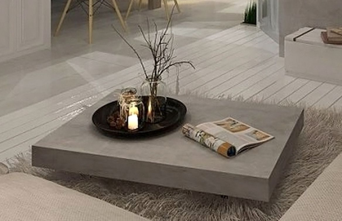 Vega Concrete Coffee Table On Wheels From Furniture Maison Modern Mid Century And Scandinavian