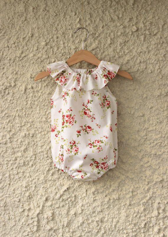 Gorgeous Flower Baby S Playsuit Romper Made To Order Size Newborn 2 Y Summer Beach