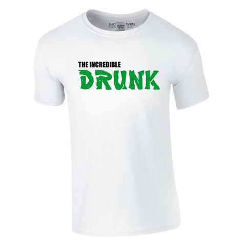 The Incredible Drunk T-shirt | Funny T Shirts for men