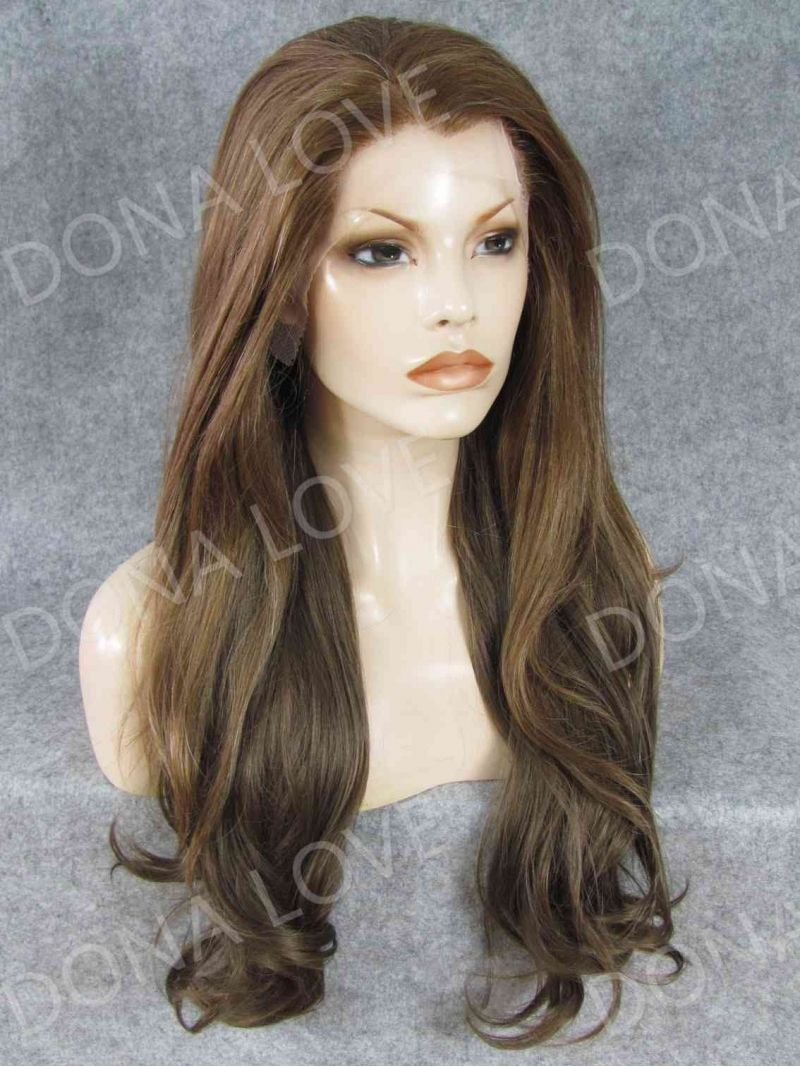 Human Hair Full Lace Wig Curly Ash Brown With Images Synthetic