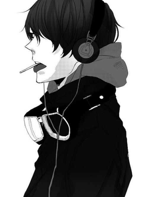 Anime Headphones Manga Boy Anime Guys Anime