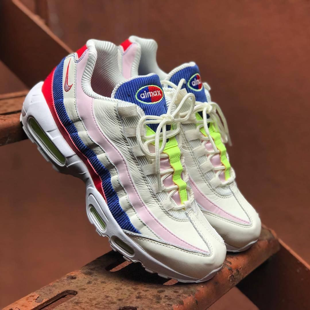 wholesale dealer ad899 03fce NIKE AIR MAX 95 SAIL ARCTIC PINK RACER BLUE DS AQ4138 101