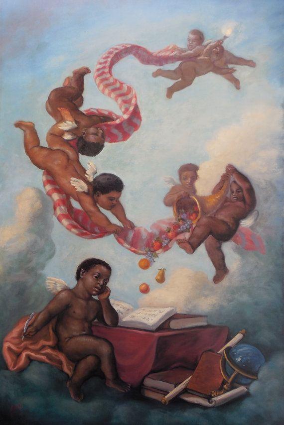 Cherubs Studying by Tim Ashkar. Beautiful high quality art ...