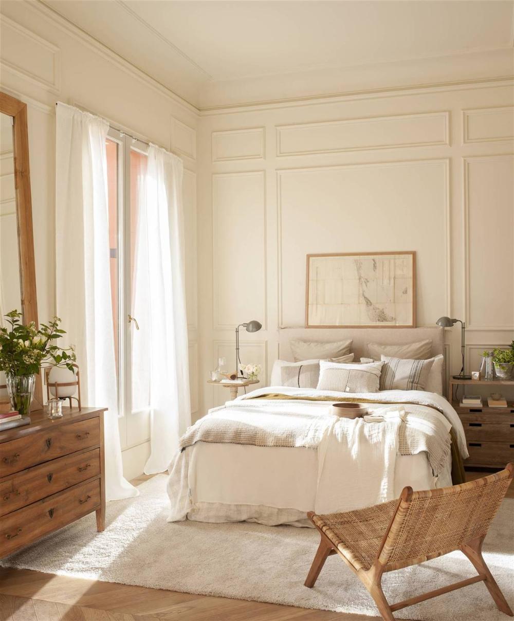 Una Alfombra A Cada Lado De La Cama Dormitorios Decoracion Del Dormitorio Blanco Disenos De Muebles De Dormitorio