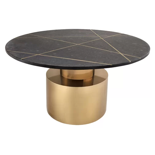 Lamps Plus Gold Round Coffee Table