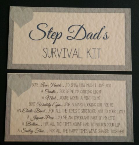 STEP DADS SURVIVAL KIT Birthday Christmas Fathers Day Gift Dad Daddy