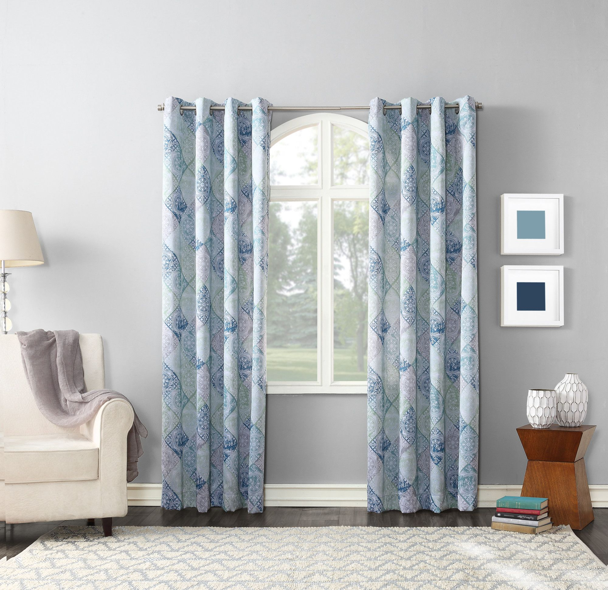 remodeling ideas in with curtain home royal blue stylish and charming white panels