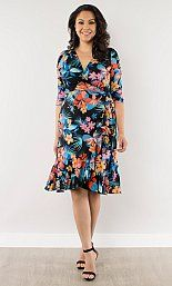 Tropical Escape Wrap Dress