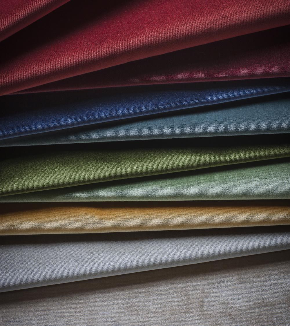 A beautifully woven silk velvet of the highest quality, in a fantastic range of colours that is enhanced by the natural sheen of silk.