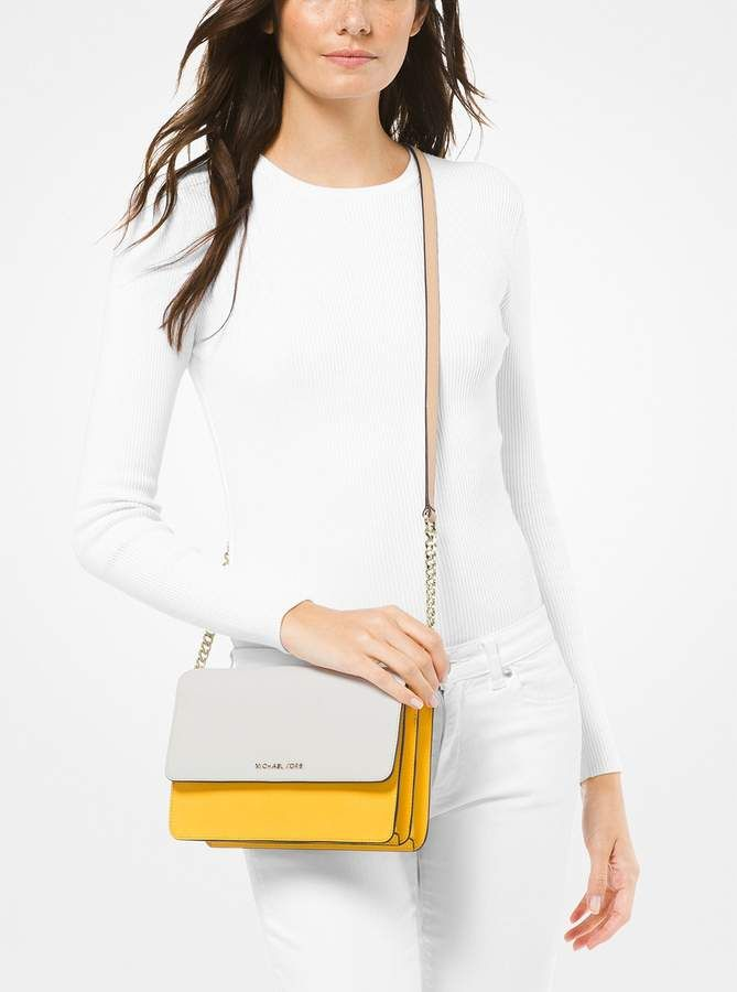 d6f8ef4497776a MICHAEL Michael Kors Daniela Large Color-Block Saffiano Leather Crossbody