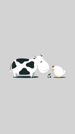 Funny Cartoon The Iphone Wallpapers Cartoon Wallpaper Iphone Cartoon Cow Illustration