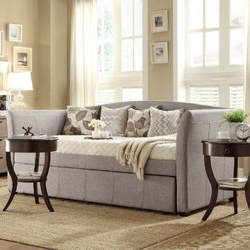 Kingstown Home Cataleya Daybed With Trundle Wayfair 519 Home Daybed With Trundle Living Room Design Modern