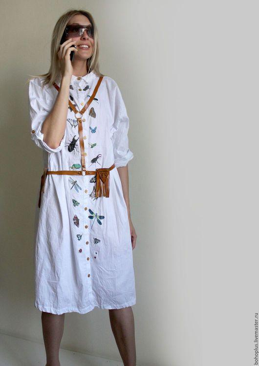 bbbb4f6b71f Платья ручной работы. Ярмарка Мастеров - ручная работа. Купить Платье- рубашка из хлопка