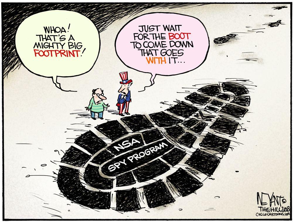 Size Matters Political cartoon analysis, Political