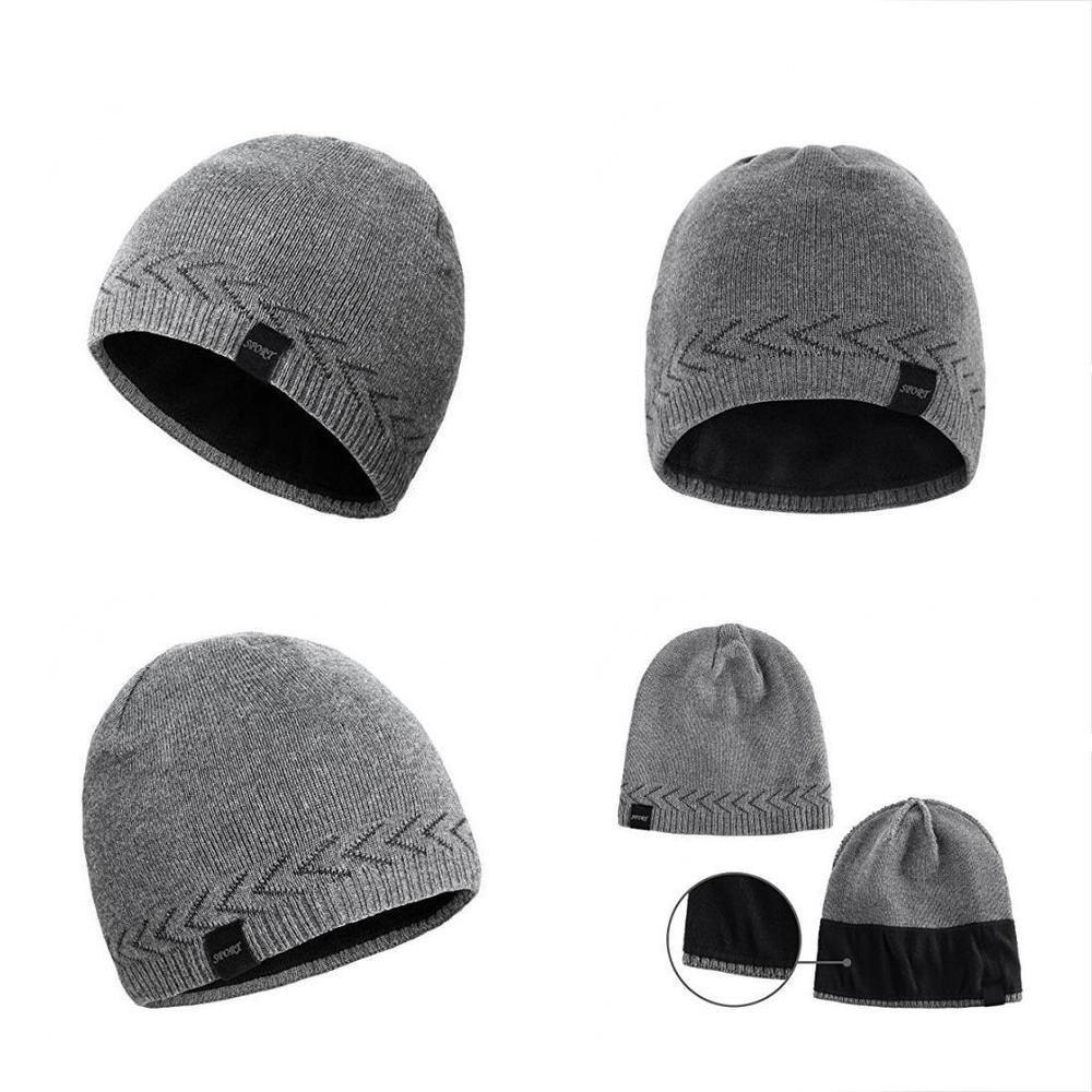 ce0b6339e27 Omechy Mens Winter Warm Knitting Hats Plain Skull Beanie Cuff Toboggan  Capgrey  fashion  clothing  shoes  accessories  unisexclothingshoesaccs ...