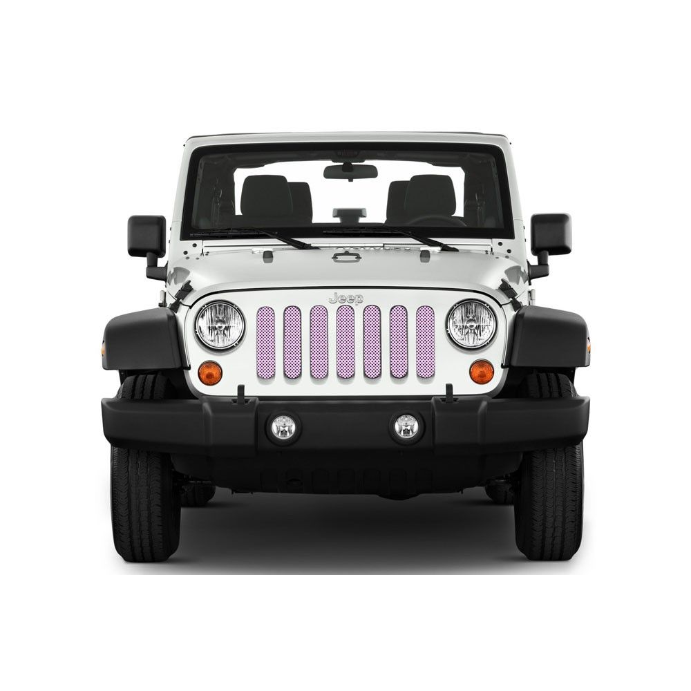 Under The Sun Inserts Grille Insert Solid Pink Jeep Wrangler Jk