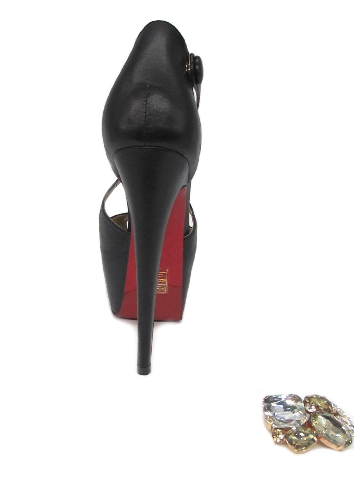 39d2d0def52 Killer Heels - 6 inch Heels Black Strappy Platform High Heels - Angelina  Voloshina - AV Heels - 3
