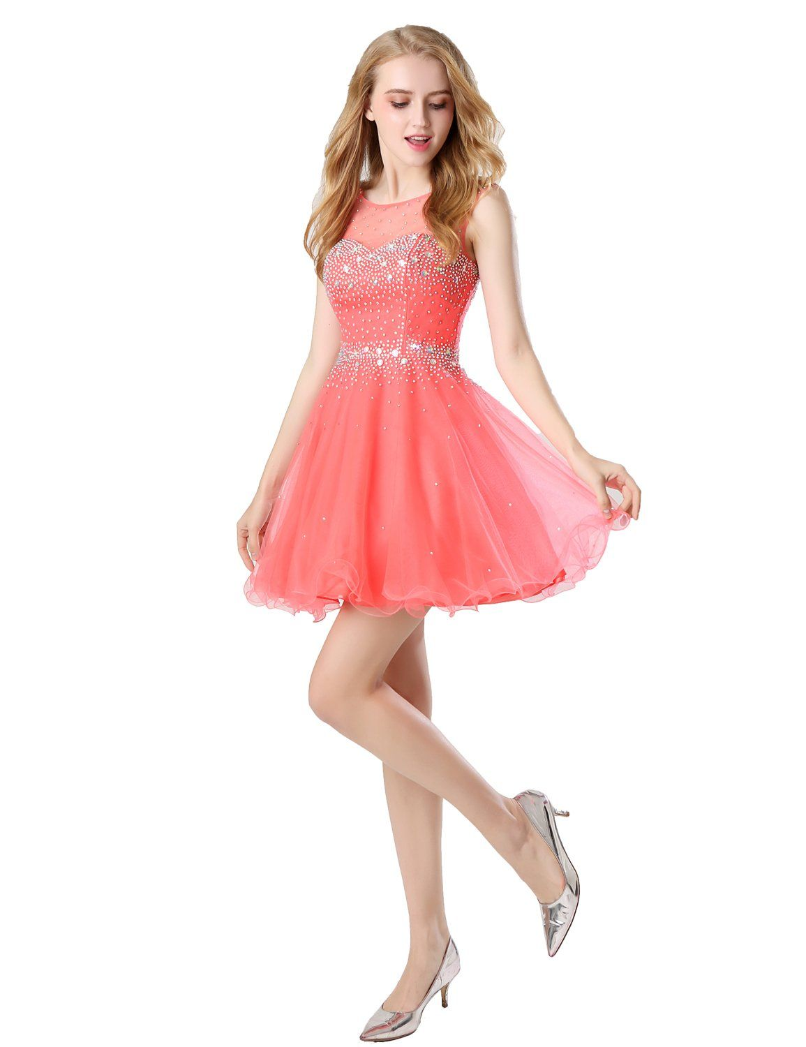 bfdfc94344d Belle House Womens Short Tulle Beads Homecoming Dress 2018 Prom Gown Sky  Blue    Want to know more