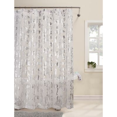 Talia 72 Inch X 72 Inch Shower Curtain Bedbathandbeyond Com 30 To Be Used As Window Curtains For Maste Fabric Shower Curtains Curtains Bed Bath And Beyond
