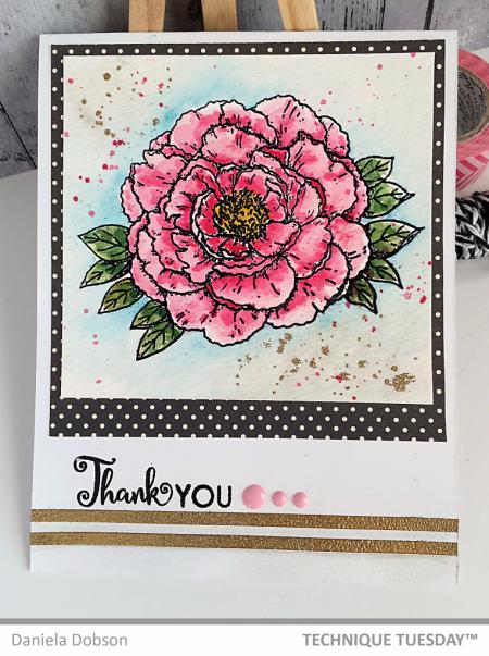 Handmade card by Daniela Dobson for Technique Tuesday // TechniqueTuesday.com