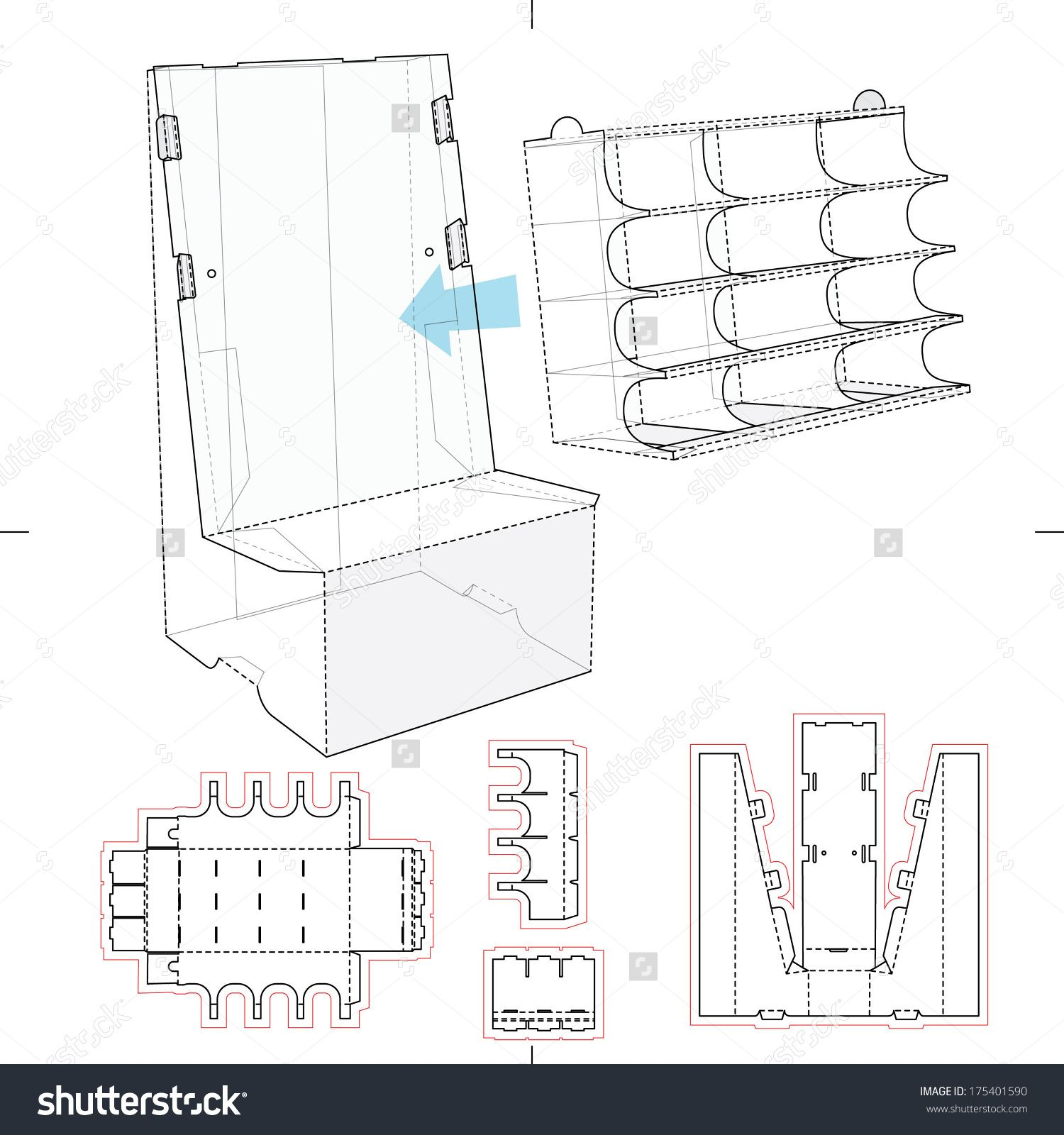 Product display stand with shelf compartments and blueprint layout product display stand with shelf compartments and blueprint layout stock vector illustration 175401590 shutterstock malvernweather Choice Image