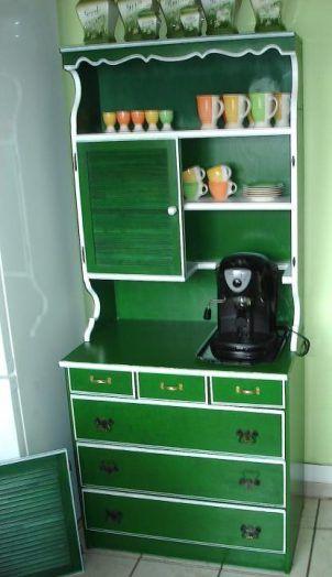 50er 60er Kuchenbuffet Kuchenschrank Shabby Grun Landhaus Dresser Things To Sell Design