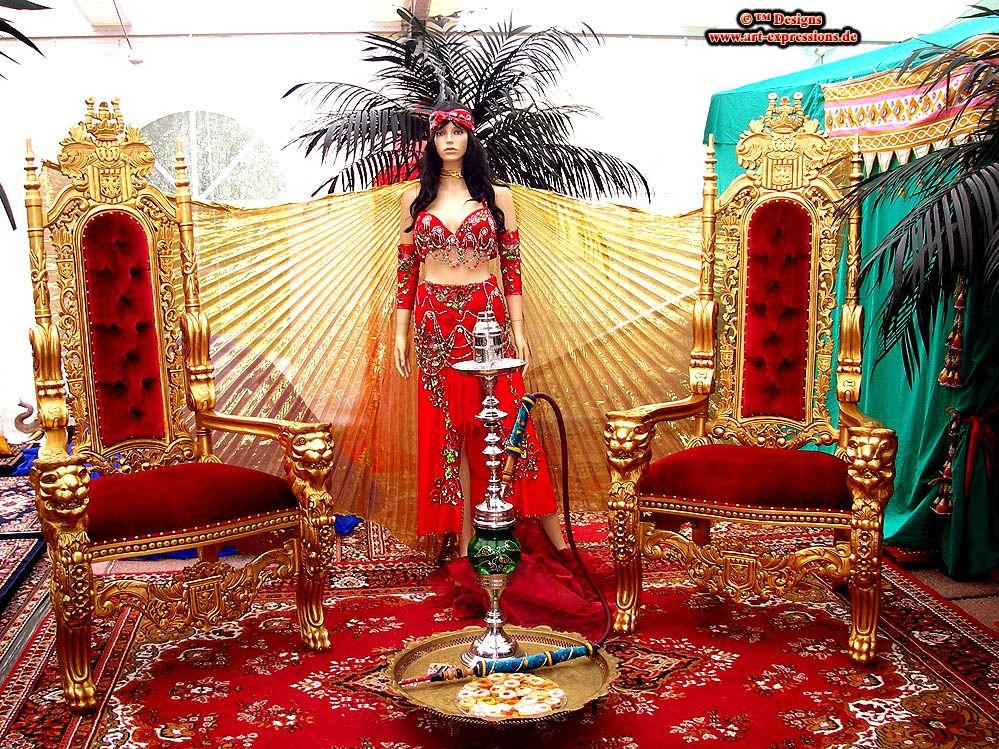 orientalische indische asiatische luxus dekorationen 24 karat vergoldete palast m bel edle. Black Bedroom Furniture Sets. Home Design Ideas