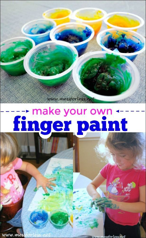 this homemade finger paint uses just a few common household items