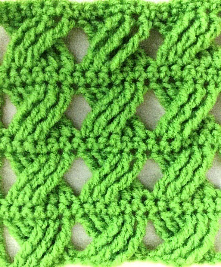 Hermoso punto cruzado tejido a crochet facil | CROCHETANDO ...