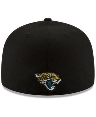 new styles ed37d b25b9 New Era Jacksonville Jaguars Logo Elements Collection 59FIFTY Fitted Cap -  Black 7 1 4