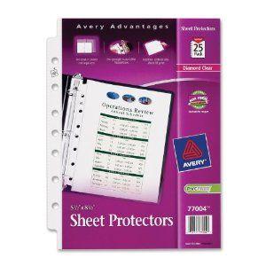 Amazon com: Avery Heavyweight Sheet Protectors, 5 5 x 8 5 Inches
