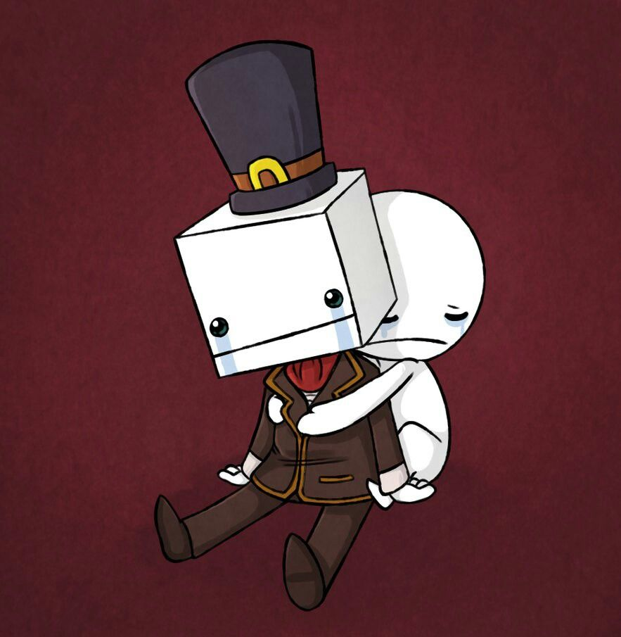 Stop Creepily Looming Hatty Don T Worry Yer Friends Will Save Ya Castle Crashers Game Art Fan Art