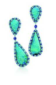 Tiffany Co Black Opal And Gemstone Earrings With Tourmalines Shires Set In Platinum