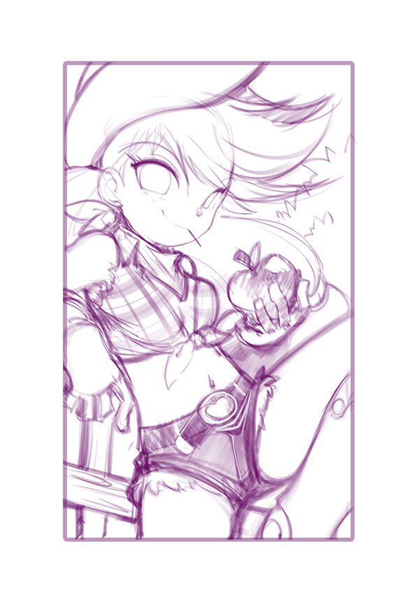 jorama: bleedman-like/ applejack/ human version/ my little pony friendship is magic/ sketch/ country girl