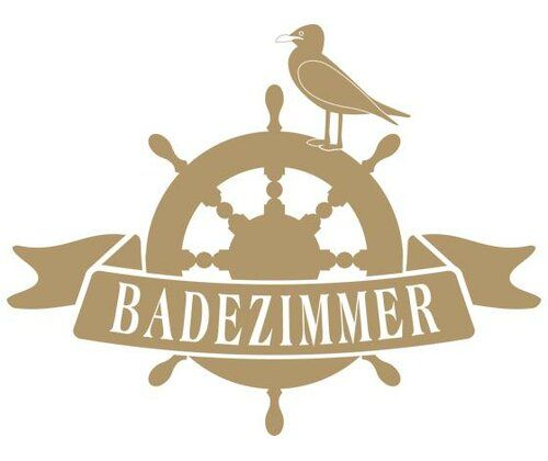 Badezimmer, Seagull Wall Sticker East Urban Home Size: 100 cm H x 130 cm W, Colour: Tan