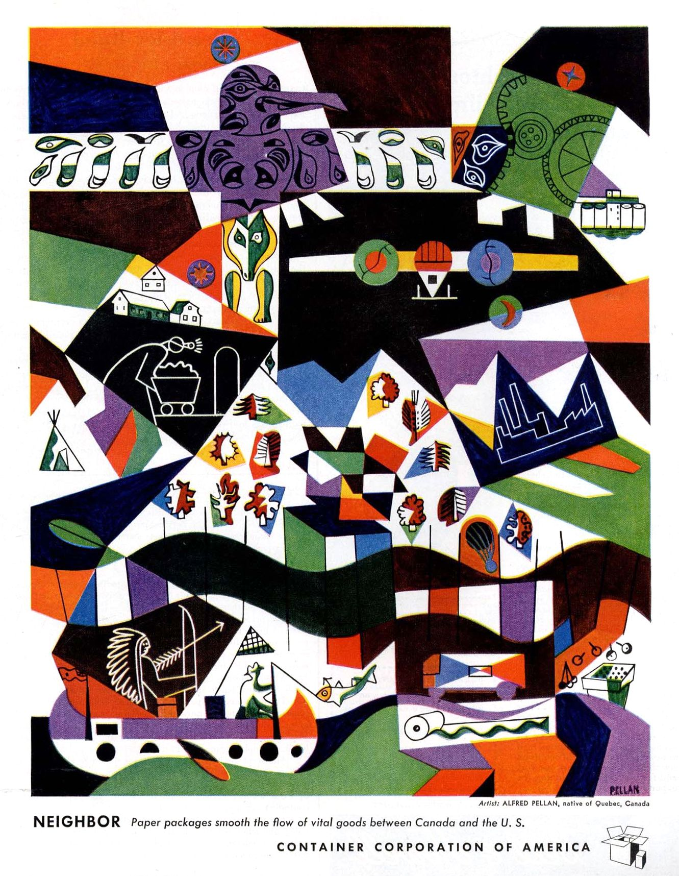 Alfred Pellan March 1945 Art Canadien Artiste Art