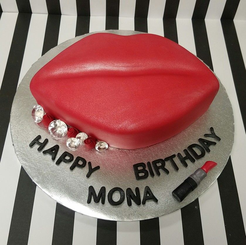 Lips Birthday Cake Pastry Bag Cake Collc Cakes Pinterest