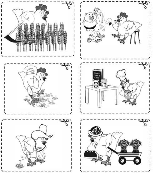 Little Red Hen Activities Worksheets Figure 2 graphics2jpg