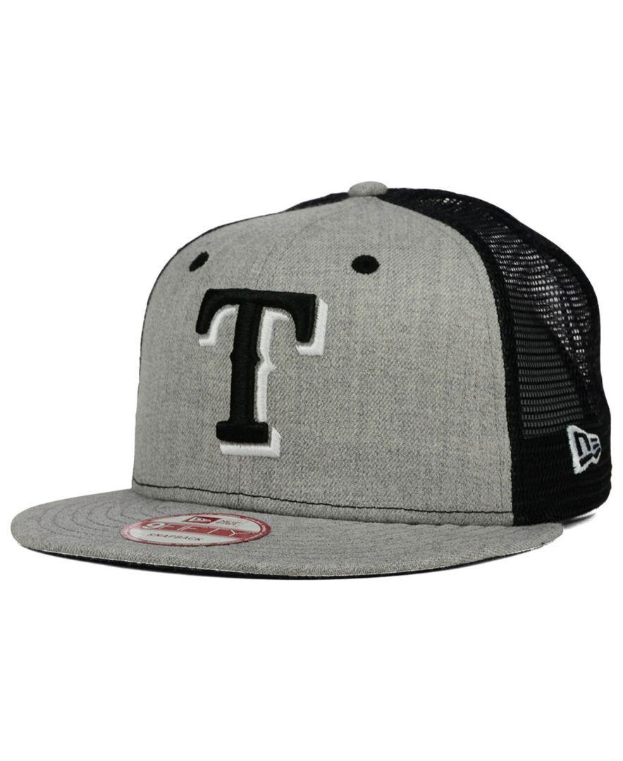 29be132fa29 New Era Texas Rangers Heather Trucker 9FIFTY Snapback Cap