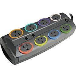Kensington Smartsockets Color Coded Eight Outlet Adapter Model Surge Protector In 2020 Joules Cord
