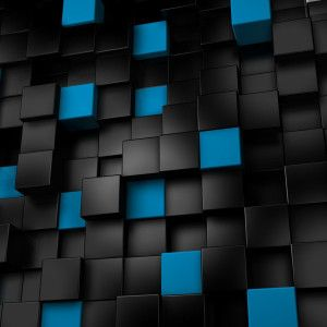 Black 3d Hd Wallpapers 1080p Widescreen Wallpapers Black And Blue Wallpaper Cool Blue Wallpaper 3d Cube Wallpaper