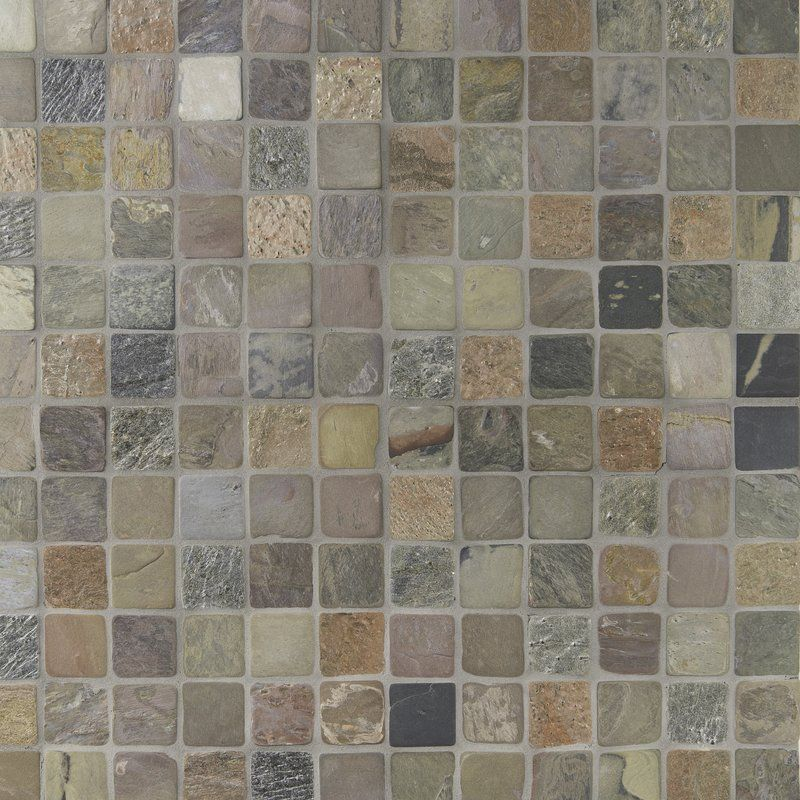 Tumbled Mixed Mesh Mounted Natural Stone 2 X 2 Slate Mosaic Tile Stone Mosaic Tile Mosaic Tiles Natural Stone Tile