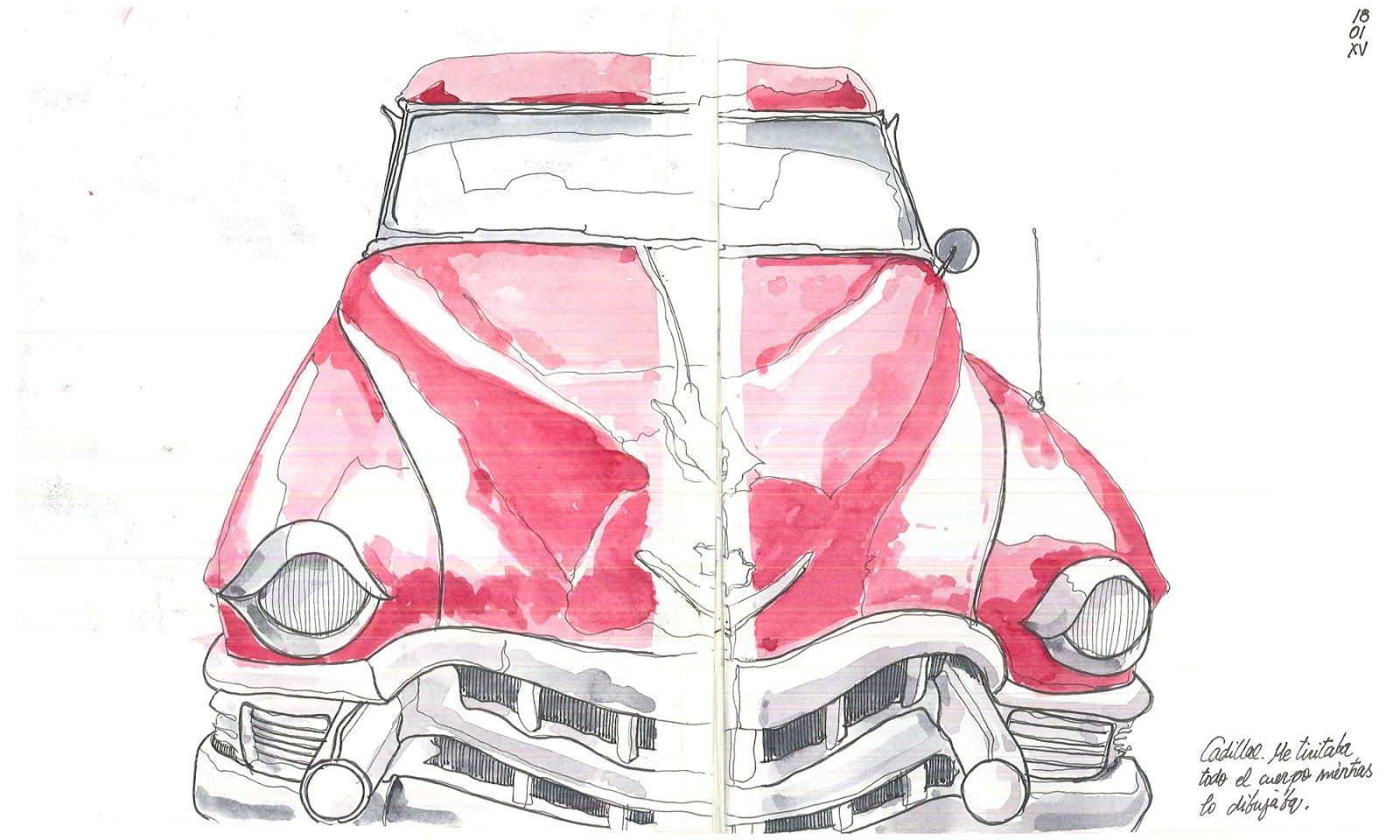 Urban Sketchers Spain. The world drawing sketch .: American Classic Car Concentr…