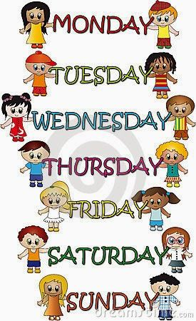 Poems About Weekdays For Kids Easy Way A Blog For Children Facts About The Names Of Weekdays Free Art Prints Lesson Plans For Toddlers Days Of Week