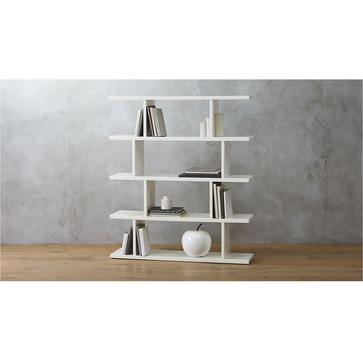 white bookcase shelves display and walls