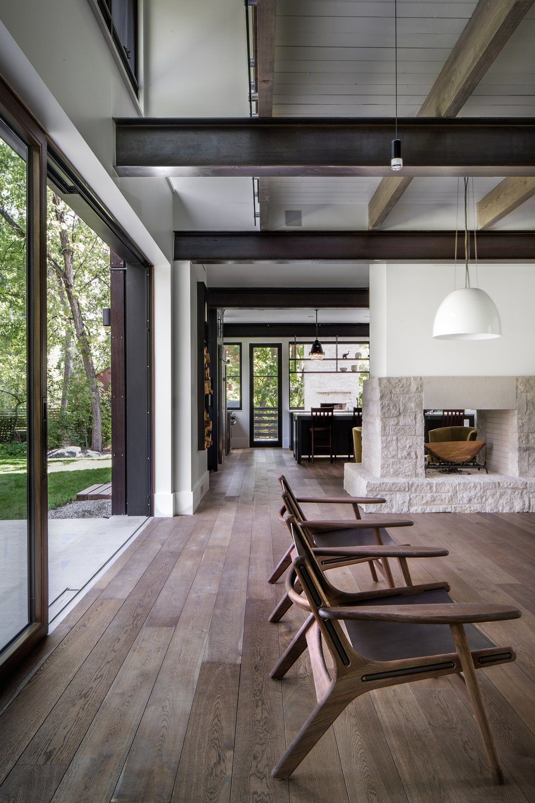 A colorado home puts a modern twist on farmhouse living photo 7 of 11 the chairs pictured above are from room and board