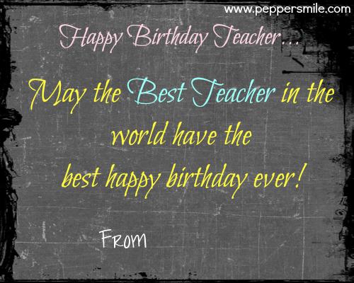 Happy Birthday To Teacher Happy birthday to teacher
