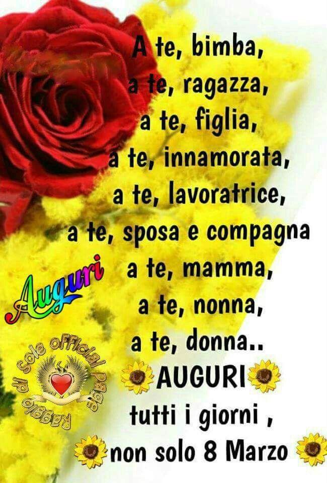 Donna auguri 8 marzo festa della donna quotes good for Biglietti di buongiorno