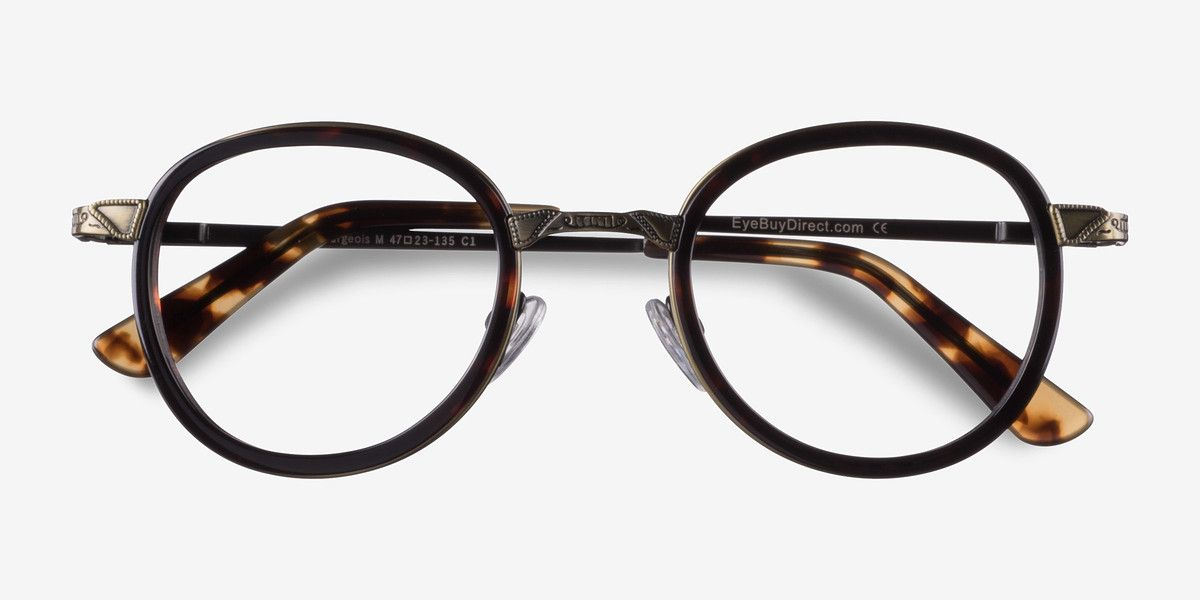 6e4059093fd Bourgeois M Tortoise Metal Eyeglasses from EyeBuyDirect. Exceptional style