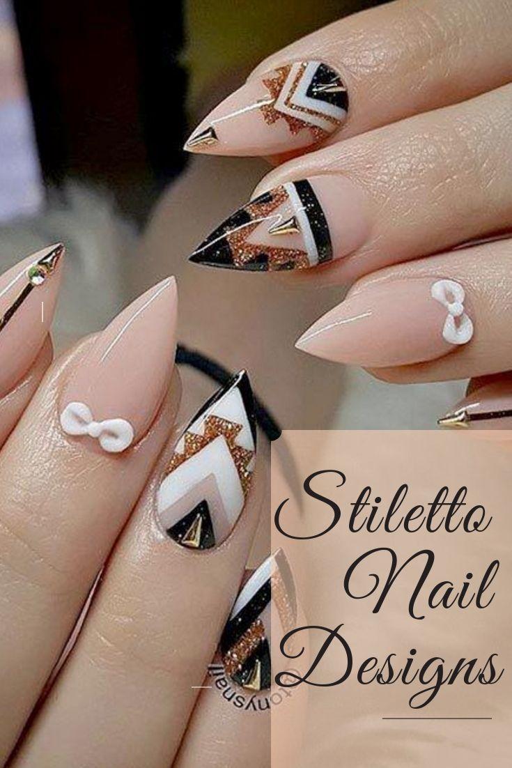 31 Best Stiletto Nails Designs 2018 Classy Nail Designs